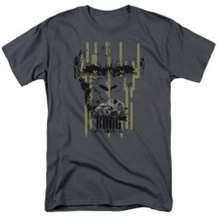 Kong Skull Island Eyes Charcoal Short Sleeve Adult T-shirt