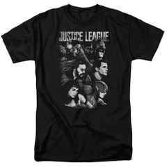 Justice League Moving Forward Black Short Sleeve Adult T-shirt