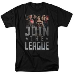 Justice League Join the League Black Short Sleeve Adult T-shirt