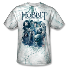 The Hobbit The Battle of the Five Armies Ready for Battle Adult Sublimation Front Print T-shirt