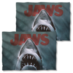 Jaws Shark Pillow Case Front and Back Print