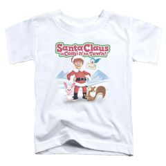 Christmas Santa Claus is Coming to Town Animal Friend Toddler T-shirt