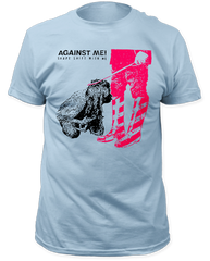 Against Me Shape Shift With Me Light Blue Cotton Short Sleeve Adult T-shirt
