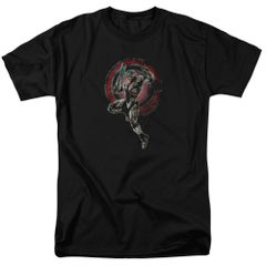 Justice League Cyborg Black Short Sleeve Adult T-shirt