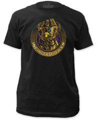 The Avengers Infinity Wars Infinite Power Black Short Sleeve Adult T-shirt