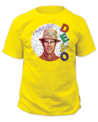 Devo Q: Are We Not Men? Yellow Short Sleeve Adult T-shirt
