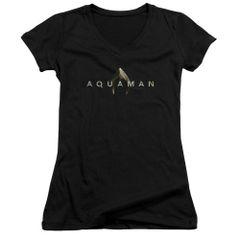 Aquaman Logo Black Junior V-Neck T-shirt