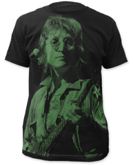 John Lennon John Lennon Black Sublimation Print Short Sleeve Adult T-shirt