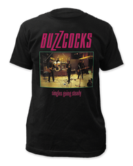 The Buzzcocks Singles Going Steady Black Cotton Short Sleeve Adult T-shirt