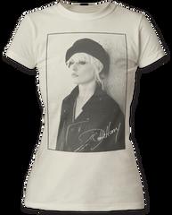 Debbie Harry Beret White Short Sleeve Junior T-shirt
