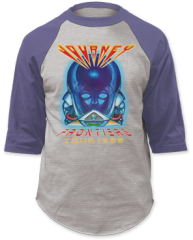 Journey Frontiers Grey Denim Blue Baseball Jersey T-shirt