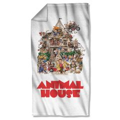 Animal House Poster Beach Towel