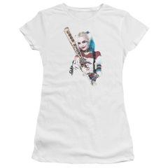 Suicide Squad Bat at You White Junior T-shirt