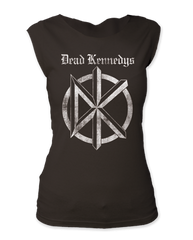 Dead Kennedys Distressed Old English Logo Womens Sleeveless T-shirt