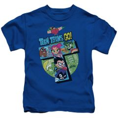 Teen Titans Go T Royal Blue Short Sleeve Juvenile T-shirt