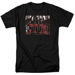 Suicide Squad Black and White and Red All Over Adult T-shirt
