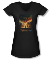 The Hobbit The Battle of the Five Armies Smaug Poster Junior V-Neck T-shirt