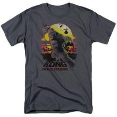 Kong Skull Island Sunset Charcoal Short Sleeve Adult T-shirt