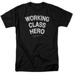John Lennon Working Class Hero Black Short Sleeve Adult T-shirt