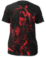 KISS Gene Simmons Black Sublimation Print Short Sleeve Adult T-shirt