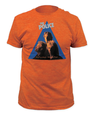 The Police Zenyatta Monatta Heather Orange Short Sleeve Adult T-shirt