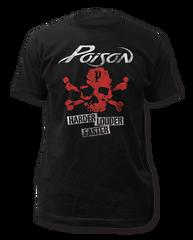 Poison Harder Louder Faster Black Short Sleeve Adult T-shirt