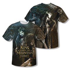 The Hobbit The Battle of the Five Armies King Adult Sublimation Front & Back Print T-shirt