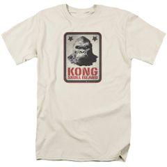 Kong Skull Island Kong Sign White Short Sleeve Adult T-shirt
