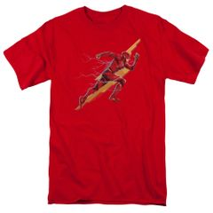 Justice League Flash Forward Red Short Sleeve Adult T-shirt