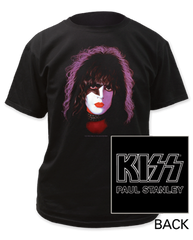 KISS Paul Stanley Black Short Sleeve Adult T-shirt