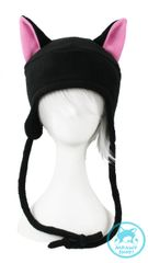 Black Cat Hat - Pink Ears