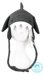Gray Shark Hat