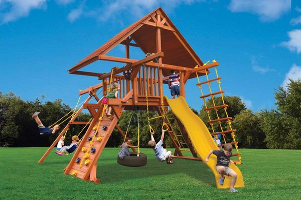 Deluxe Playcenter Combo 2 w/ Wood Roof