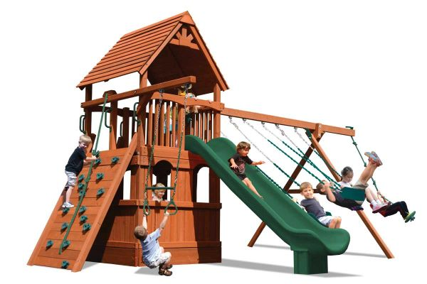 Turbo Deluxe Fort w/ Lower Level Playhouse