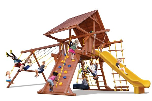 Turbo Deluxe Playcenter Combo 2 w/ Wood Roof