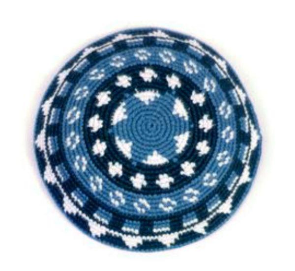 Knitted Kippahs Bar Mitzvah Knitted Kippot Wedding Linen Kippot