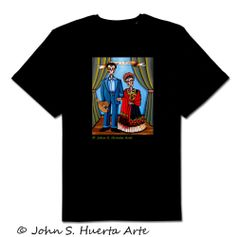 Diego y Frida unisex 100% cotton black