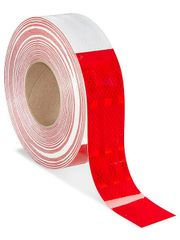 """3M Reflective Conspicuity Tape - 2"""" x 150', Red/White"""