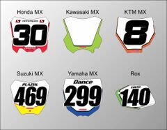 MX Mini Plate Decals