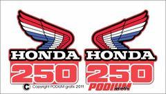 Honda CR250R 1986 Rad Shroud Reproduction Decals