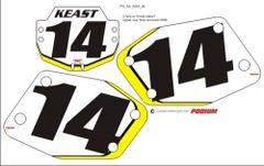 Rox PG2 Numberplate Decals 3 Piece