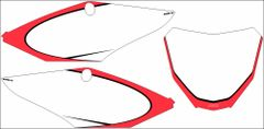 Honda 2017+ CRF450R 2018 CRF250R PG2 Numberplate Decals