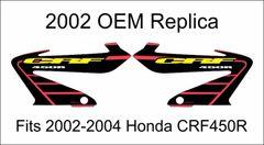 Honda 2002 CRF450R Replica Rad Decals