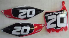 Honda 2013-2016 CRF450R and 2014-2017 CRF250R PG2 Numberplate Decals
