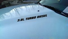 3.0L TURBO DIESEL DECALS