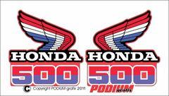Honda CR500R 1985 Rad Shroud Reproduction Decals