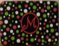 "M Embroidered Initial 4"" x 6"" Photo Album"