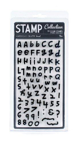 American Crafts Rue Clear Alphabet Stamp Set