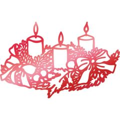 Hotfoil Stamp Couture Creations Wreathed Candles