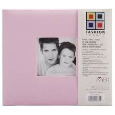"MBI Fashion Fabric Post Bound Window Album 12""X12"" Pink"